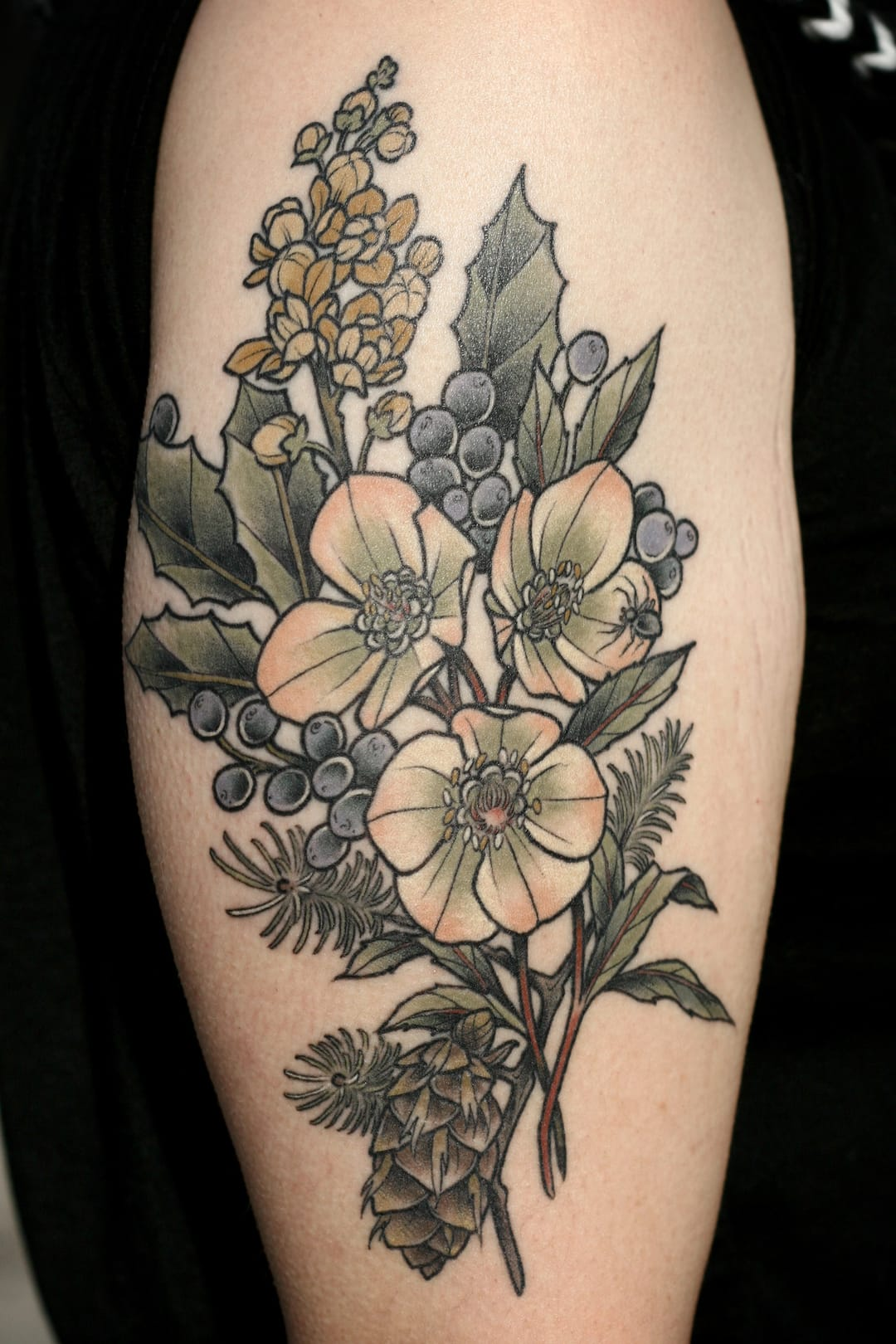 Flower tattoo by Kirsten