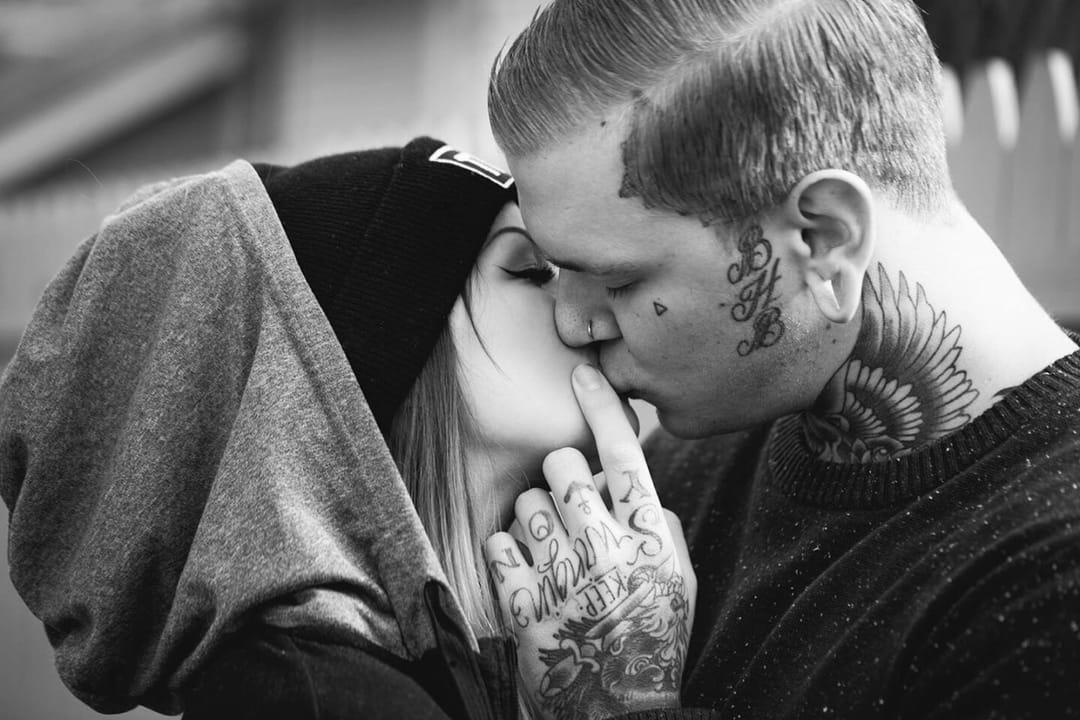 Tattooed couple: @jerrodxmichael and @minaxkate - Courtesy of cellestuff/Tumblr