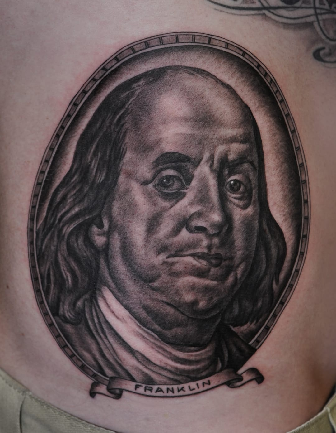 rollin 39 in the benjamins 6 awesome benjamin franklin tattoos tattoodo