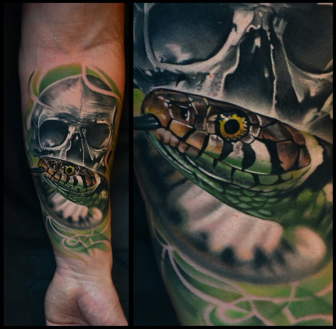 Snake tattoo by Peter Lamos