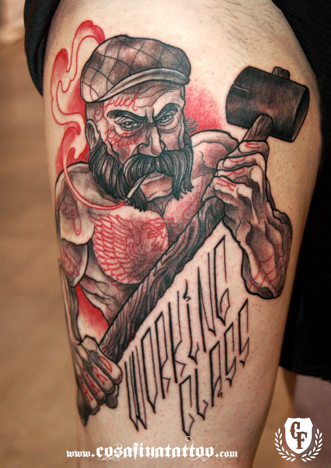 15 strong working class inspired tattoos tattoodo for Tattoo classes online free
