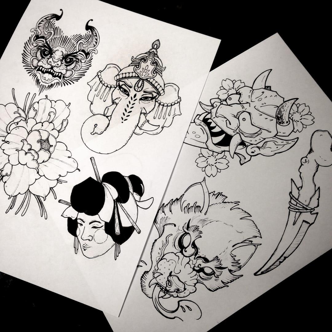 Tattoo designs by Shaun Williams.