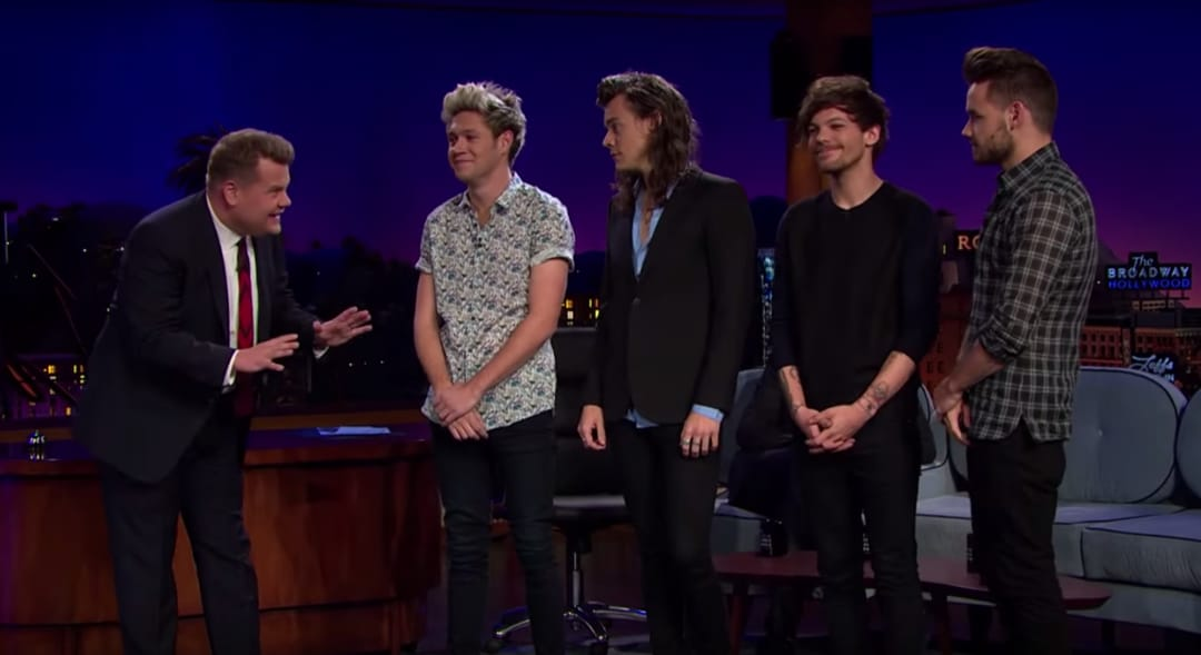 One Direction Played Tattoo Roulette At The Late Late Show