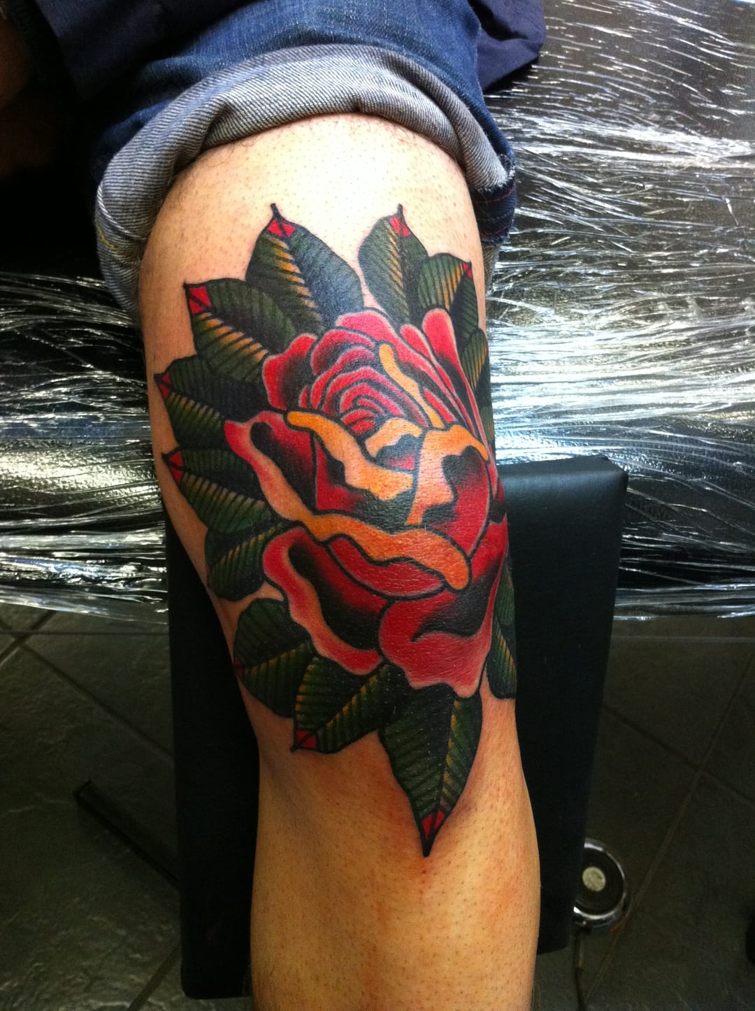 Awesome rose tattoo: photo from cockasnooktattoo