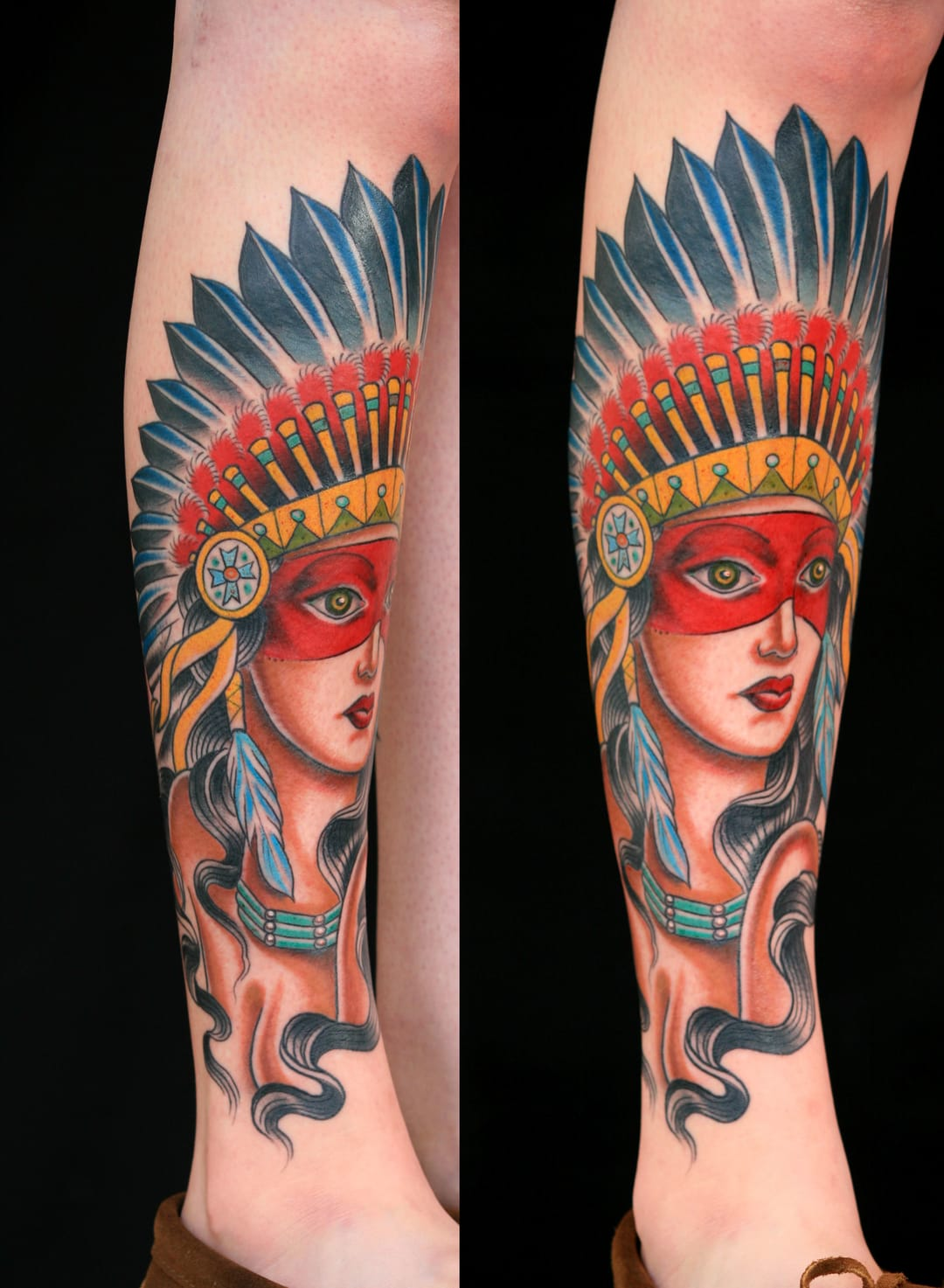10 Elegant Native American Girl Tattoos