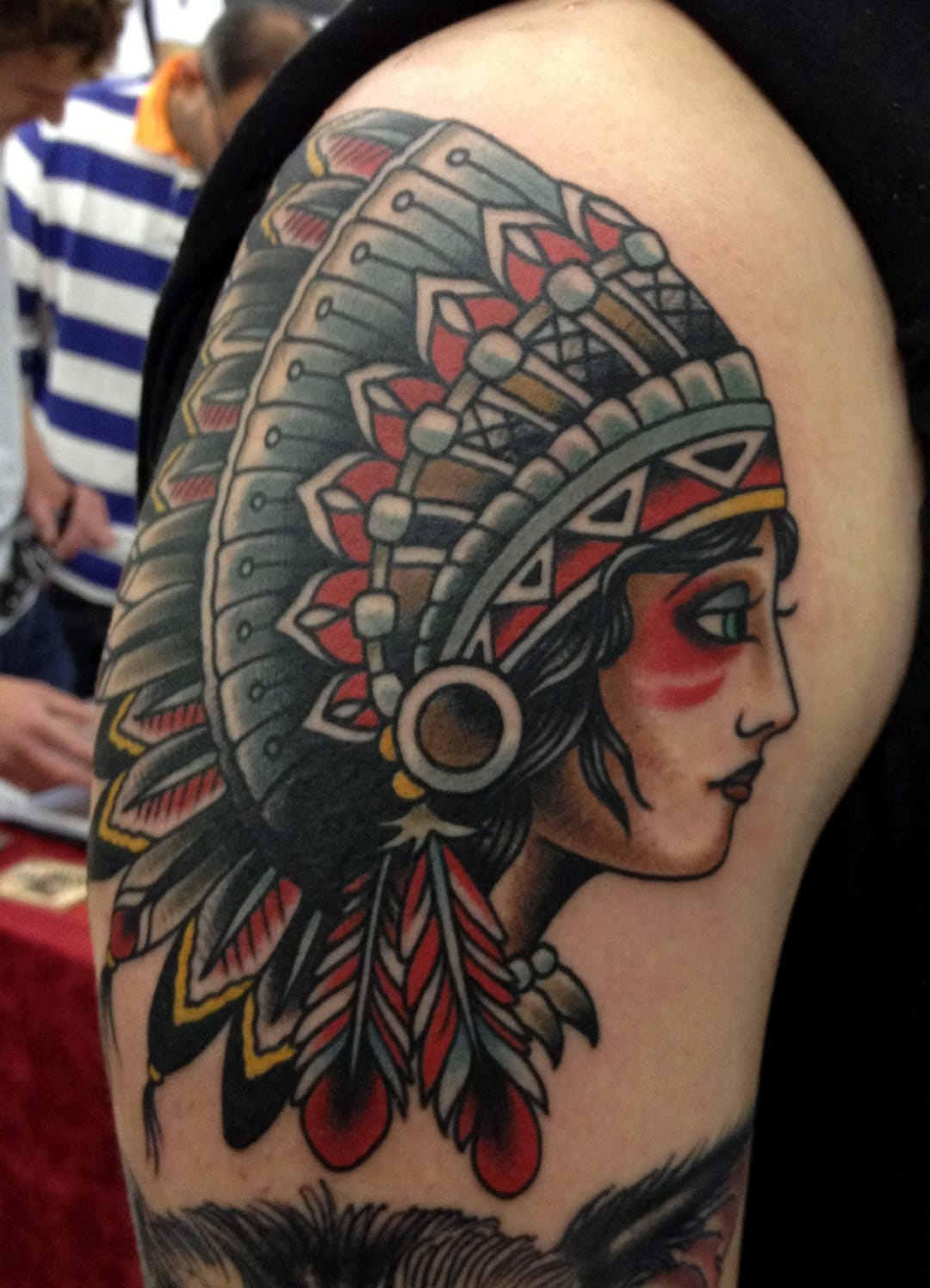 Awesome color selection on this tattoo.