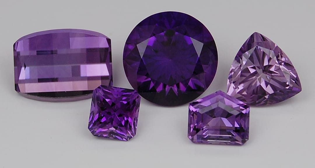 Here are samples of cut & polished natural Amethyst crystals. Aren't they stunning?