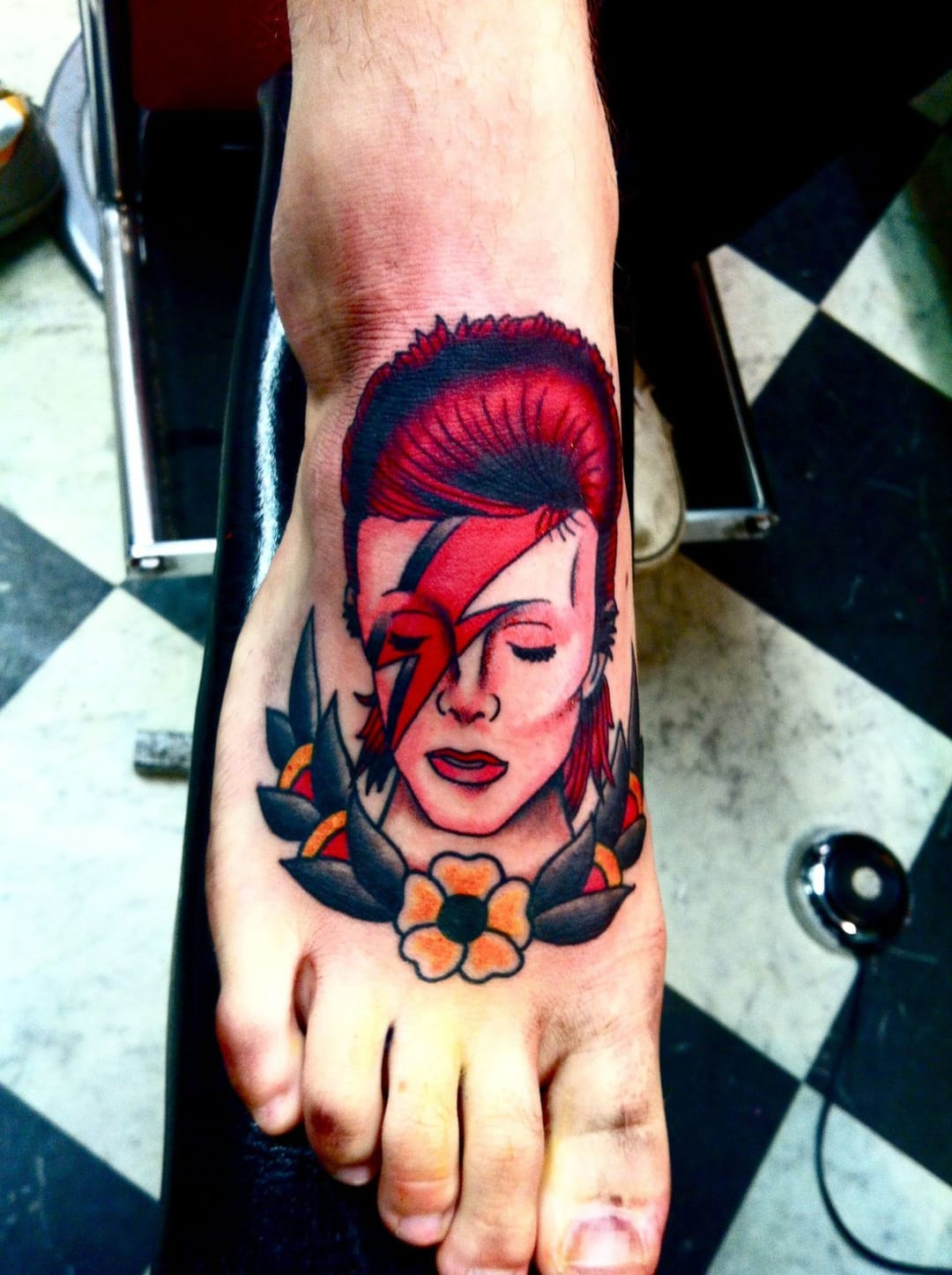 Another colorful Ziggy Stardust piece, artist unknown