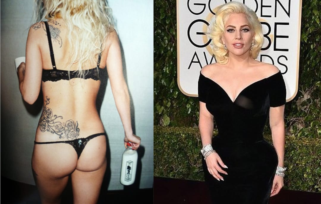Lady Gaga Covered Her Tattoos For The Golden Globes!