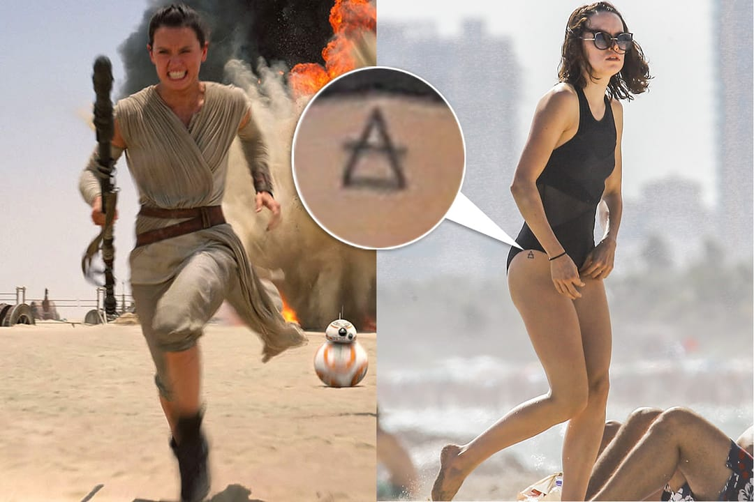 Star Wars Daisy Ridley's Cute Tattoos