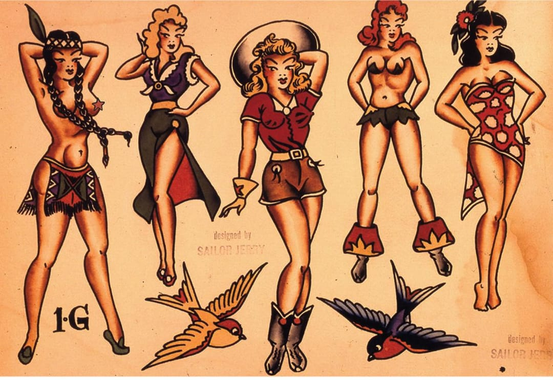 Iconic Jerry Pin-up Girls