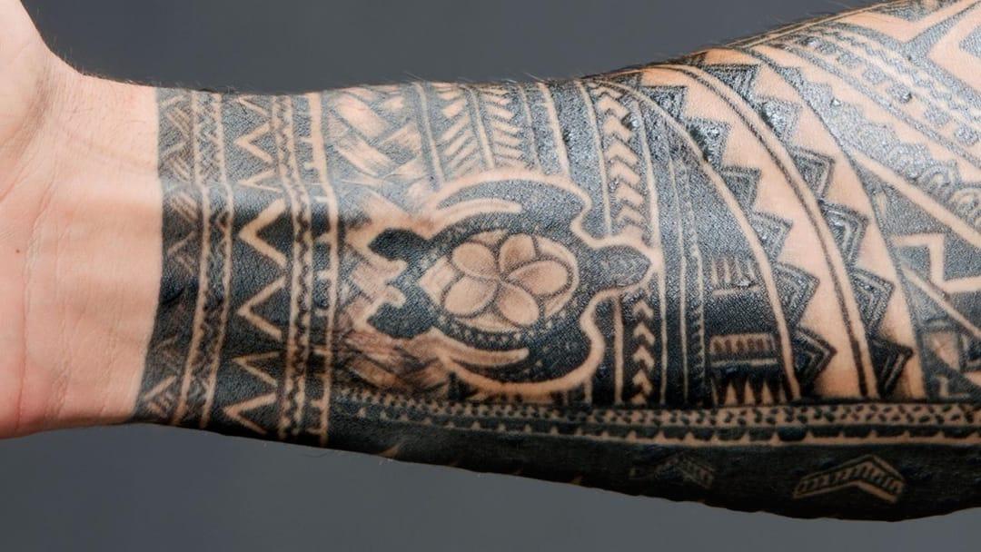 Roman Reigns Turtle Tattoo