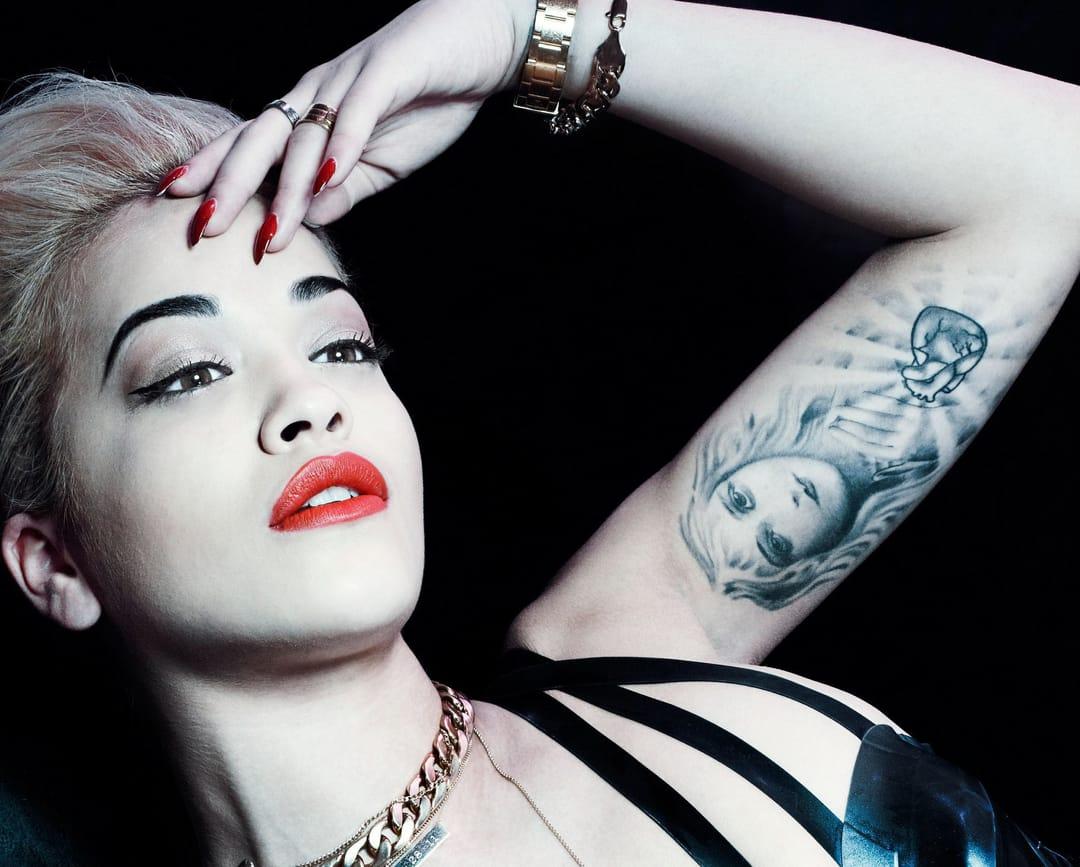 Rita's inner arm tattoo is of Aphrodite the goddess of love