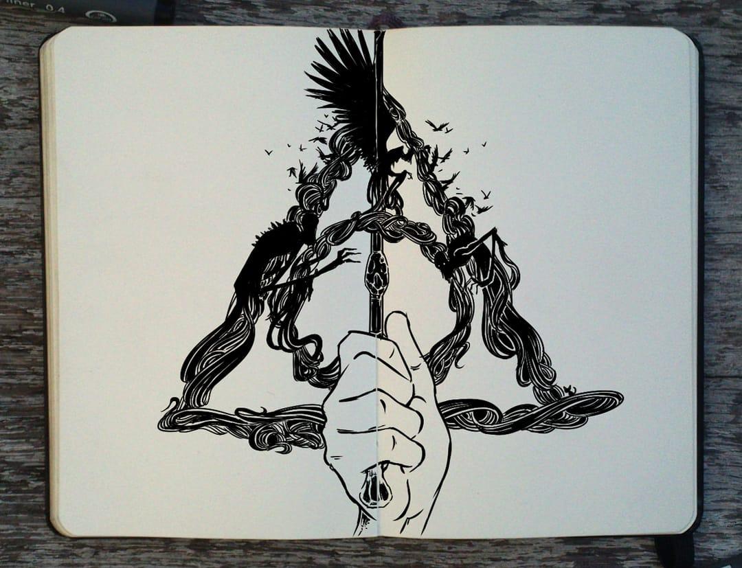 The Deathly Hallows emblem