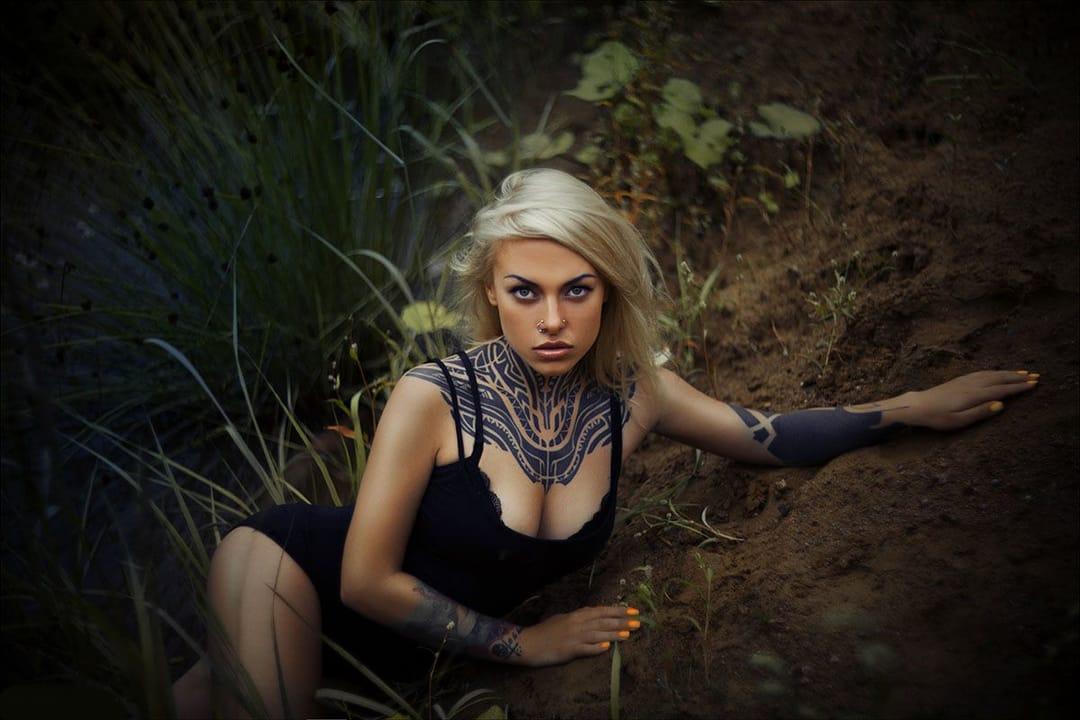 Teya Salat into the wild, photographer unknown. #tattoomodel #tattoodobabe #teyasalat