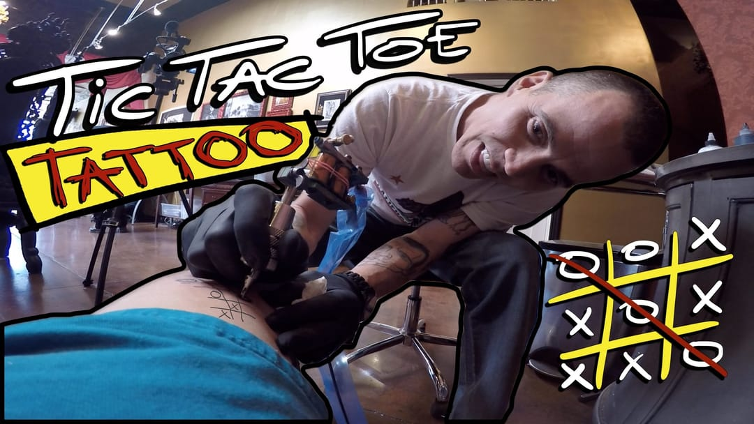 Would you challenge Steve-O to play Tic Tac Toe on YOUR skin? I would, just for fun!