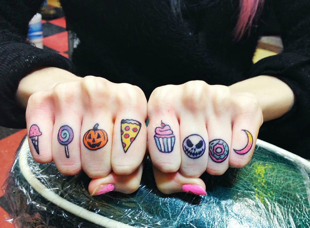 Awesome knuckle tattoos