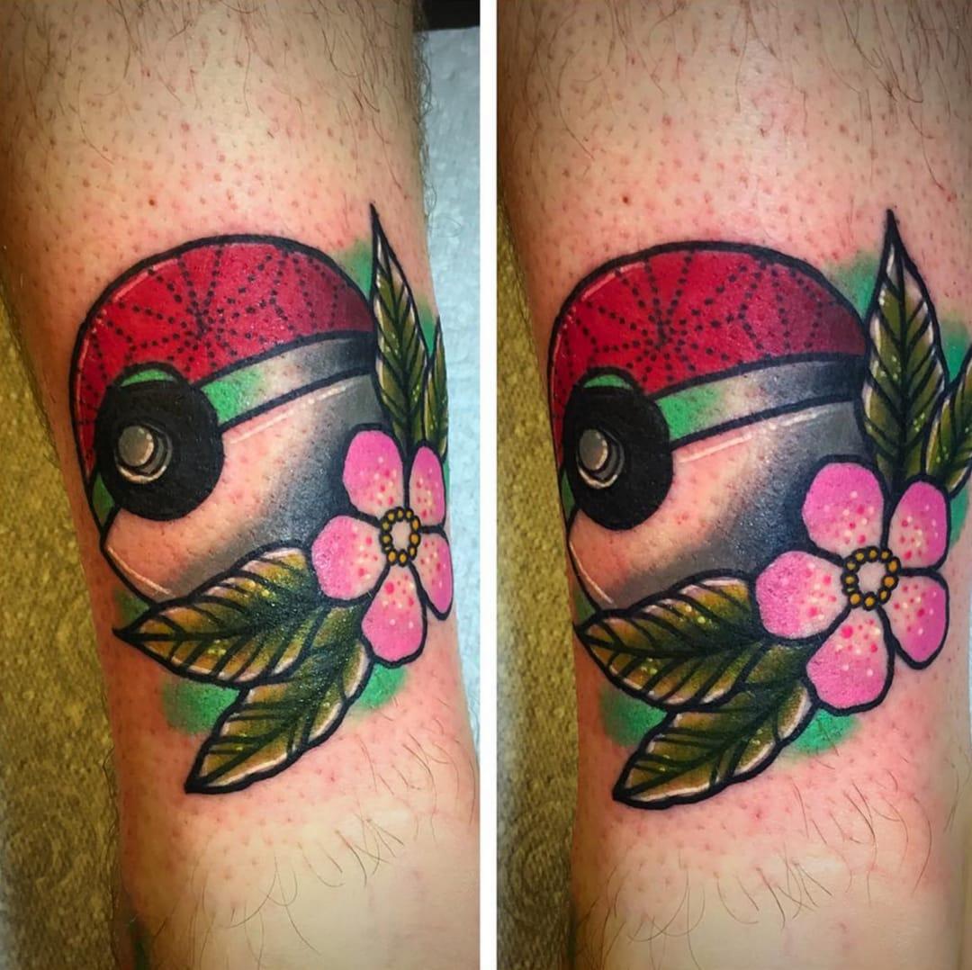 Pokémon tattoo by Stickypop.