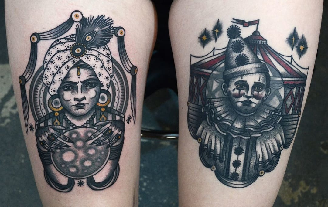 Nice looking tattoos by Philip Yarnell!