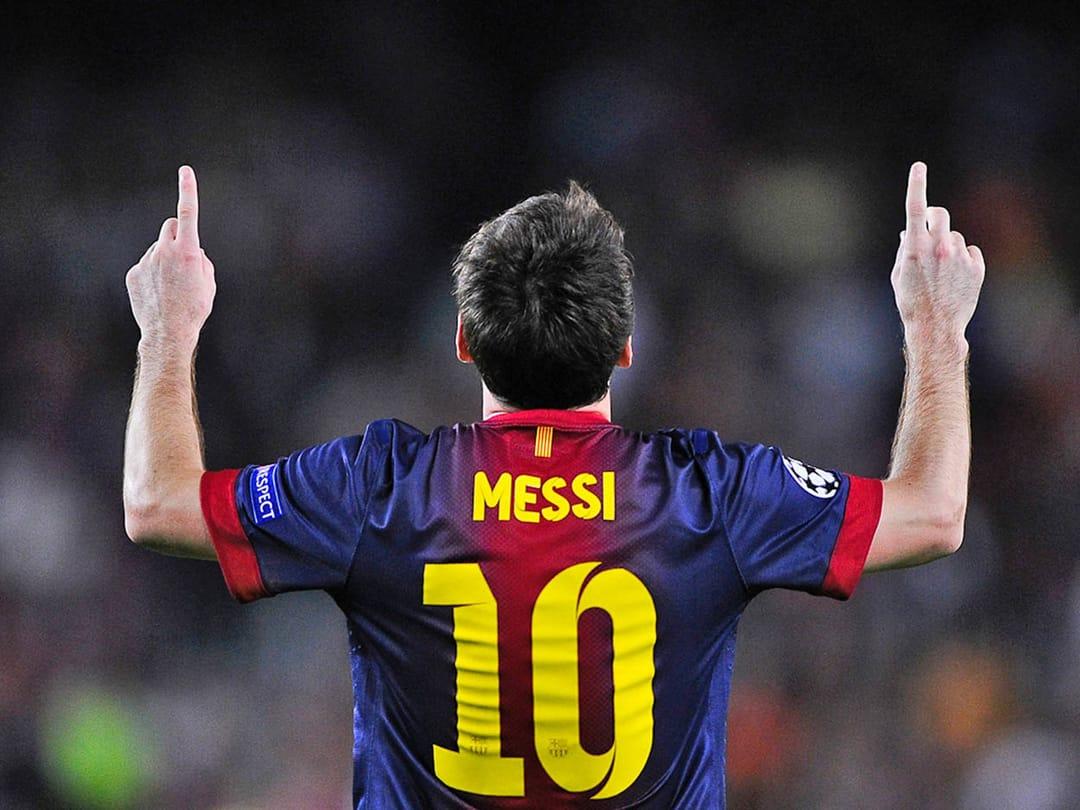 The Classic Messi Celebration
