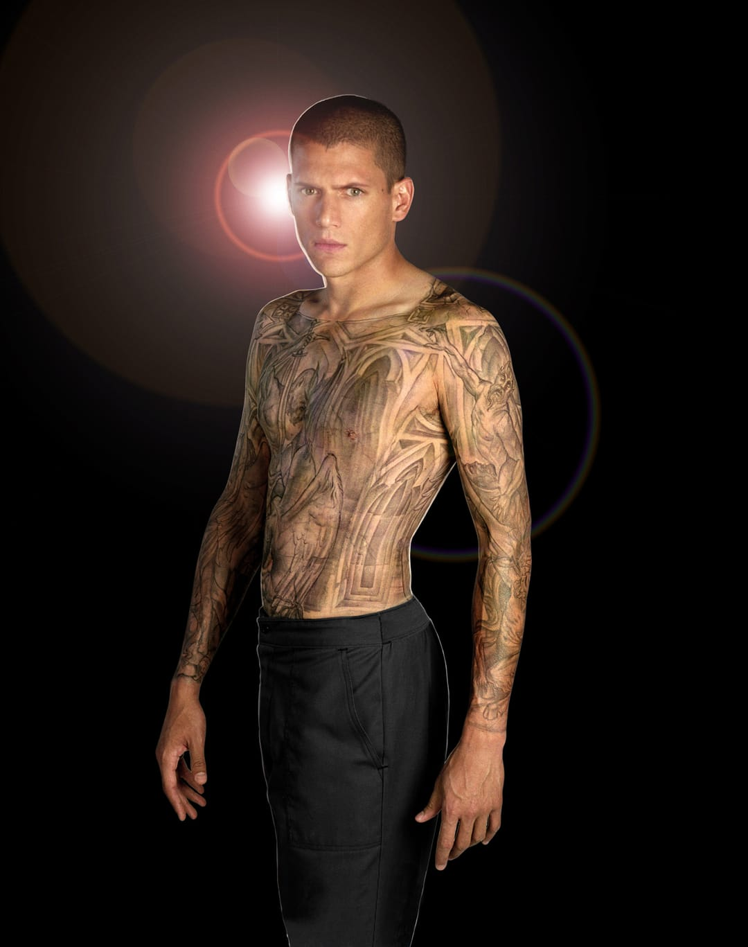 The fake bodysuit had to be scrubbed off and could last weeks if left on, Michael Schofield and his Prison Break tattoo #prisonbreak #michaelschofield