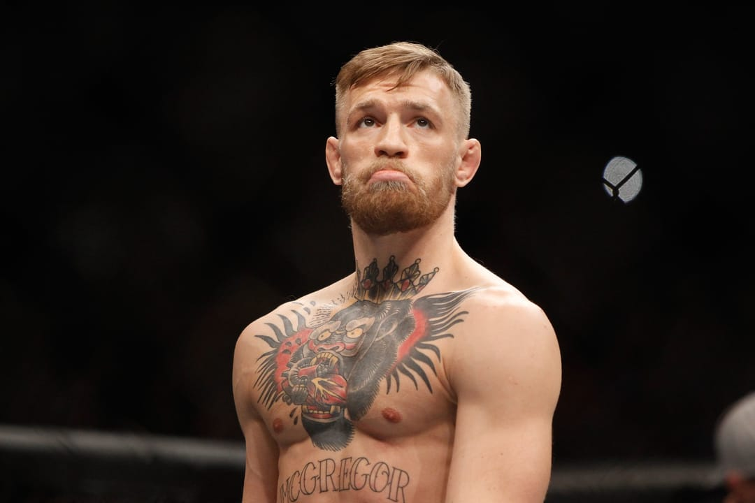 UFC Fighter Conor McGregor's insane chest piece! Photo by Steve Marcus/Getty Images