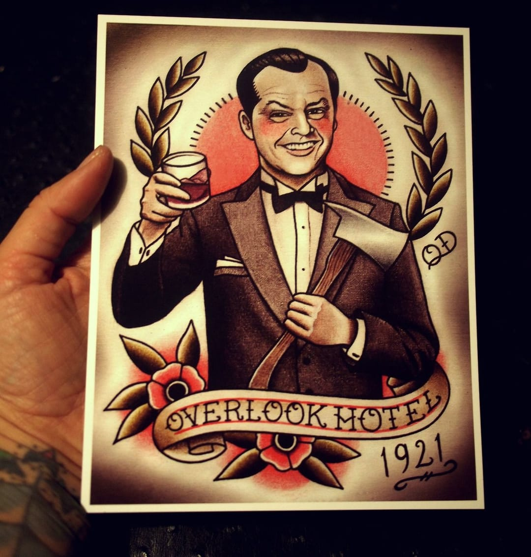 Old school inspiration with this The Shining tattoo flash by Quyen! Fun!