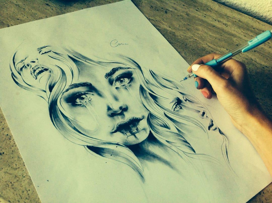 Amazing pencil drawingdone byVeronInk.