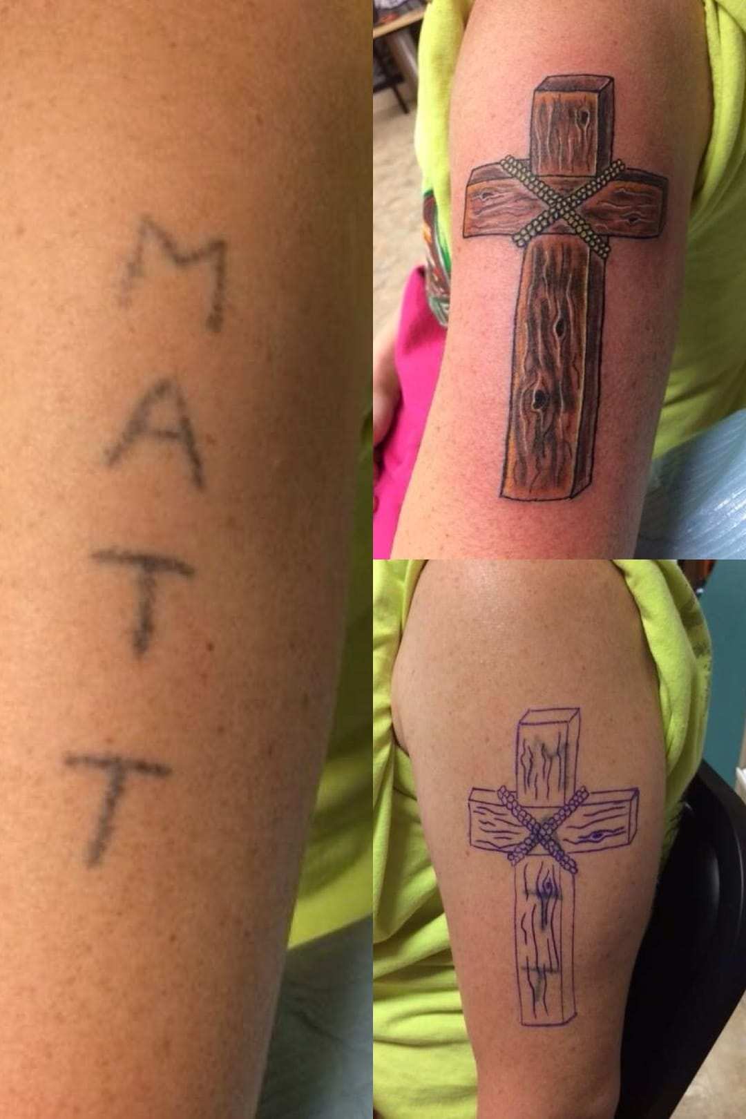 Cover up for an abusive ex. Tattoo by Baker.