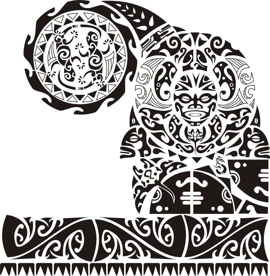 Maori tattoo done by Alan J Maranho. #maori #maoritattoo