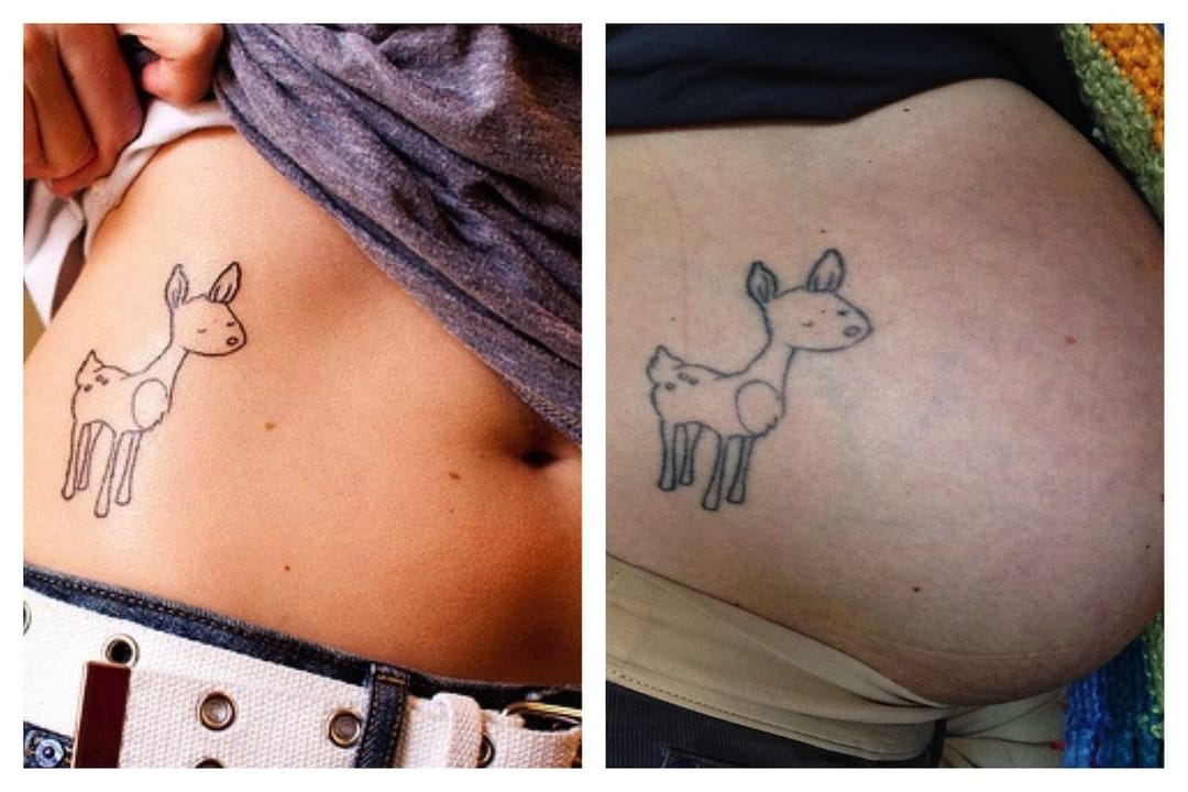 pregnancy tattoo changes