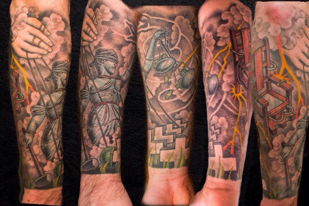 Justice for all - Shaun Nel of Kings Ave Tattoo, Massapequa, NY.
