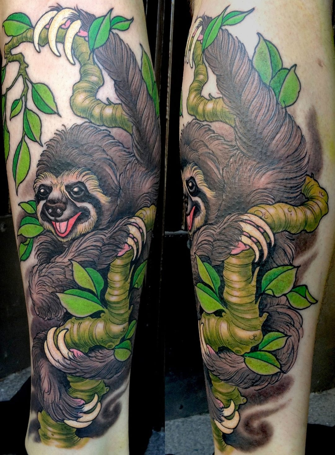 15 Relaxing Sloth Tattoos