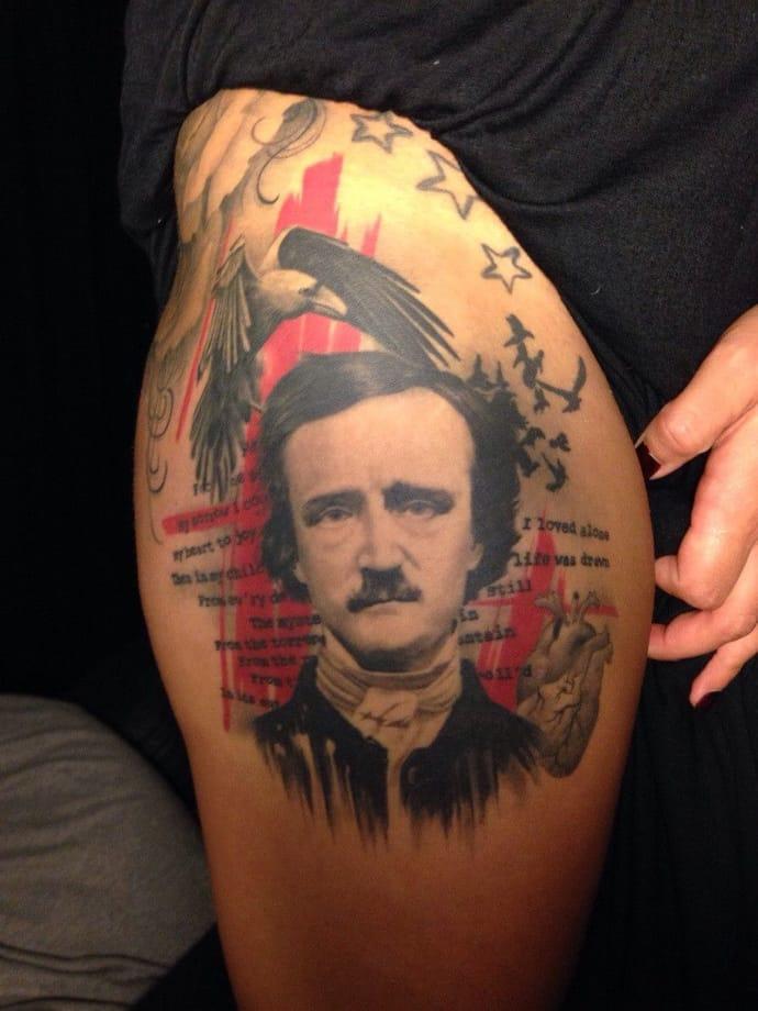 Trash polka style of Poe by Chris Adamek.